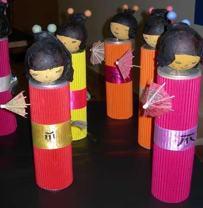 fabrication de poupées japonaises