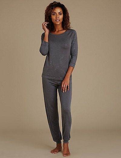 Sparkle Vest Pyjama Top | M&S