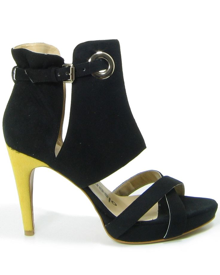Boots Shoe | Home / Shoes / Heels & Wedges / Yellow heeled vegan shoe boots