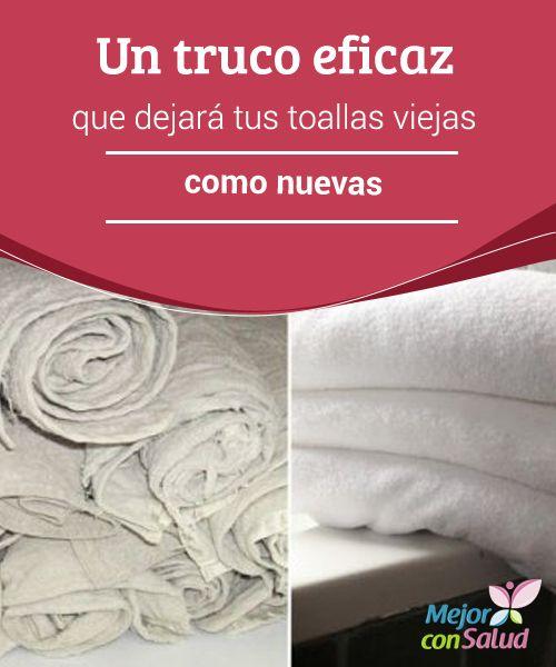 Un truco eficaz que dejará tus toallas viejas como nuevas  Las toallas son uno de los elementos que más usamos en nuestro hogar y, por tanto, es común que, con el paso de los días, empiecen a perder su capacidad de absorción y adquieran mal olor.                                                                                                                                                                                 Más
