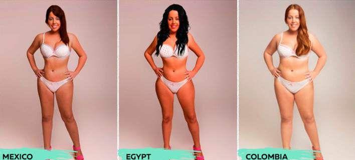 Πώς αντιλαμβάνονται το τέλειο σώμα σε 18 χώρες [εικόνες]