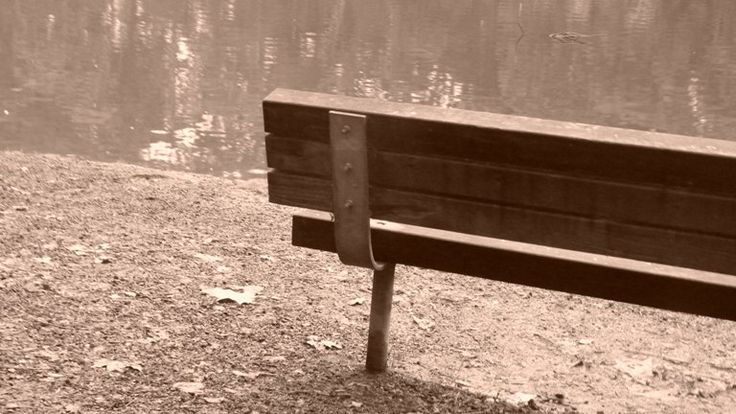 Sepia of bench