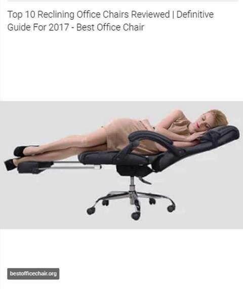 1000 Ideas About Reclining Office Chair On Pinterest