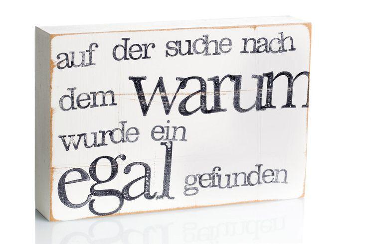 """Wanddeko - Text Bild an der Wand """"Warum"""" - ein Designerstück von iopla bei DaWanda"""