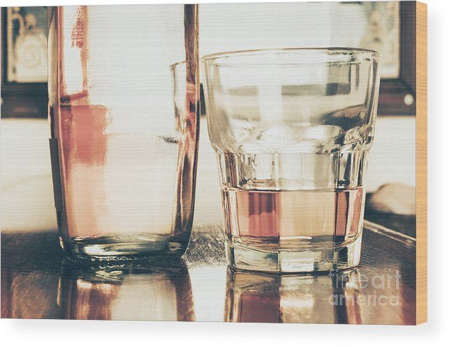 Liquor Wood Print featuring the photograph Beverage Picture On A Glass Of Golden Rum 50ml by Jorgo Photography - Wall Art Gallery
