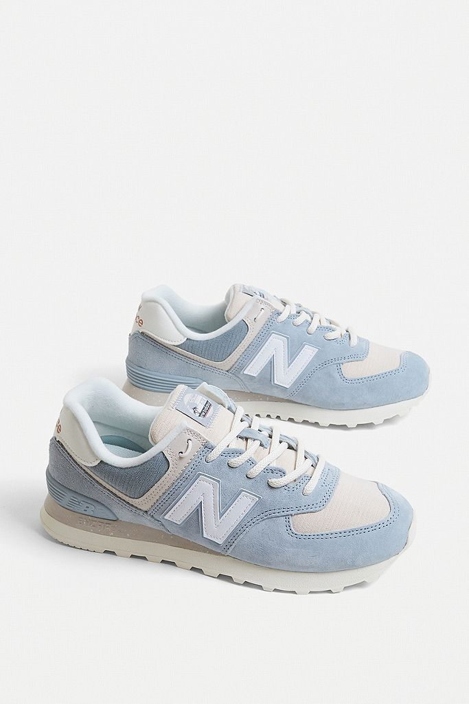 New Balance 574 Ice Blue Trainers in
