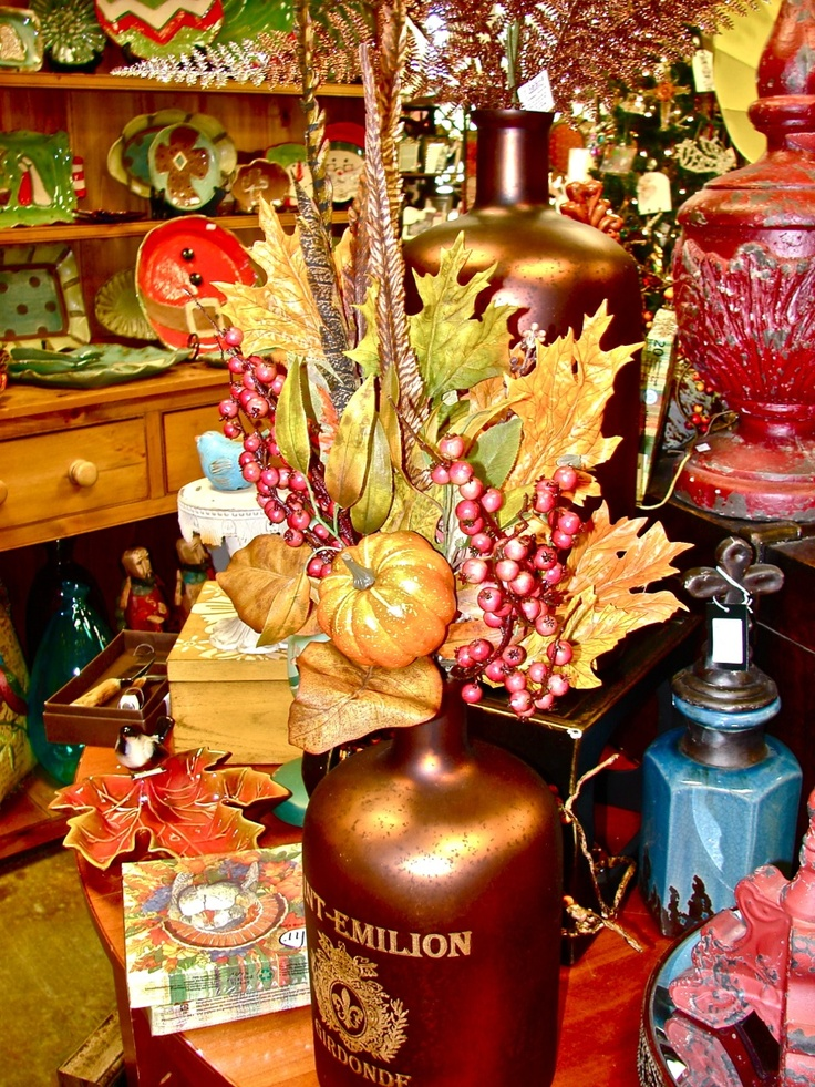 Thanksgiving and fall decor items for sale at the cupboard