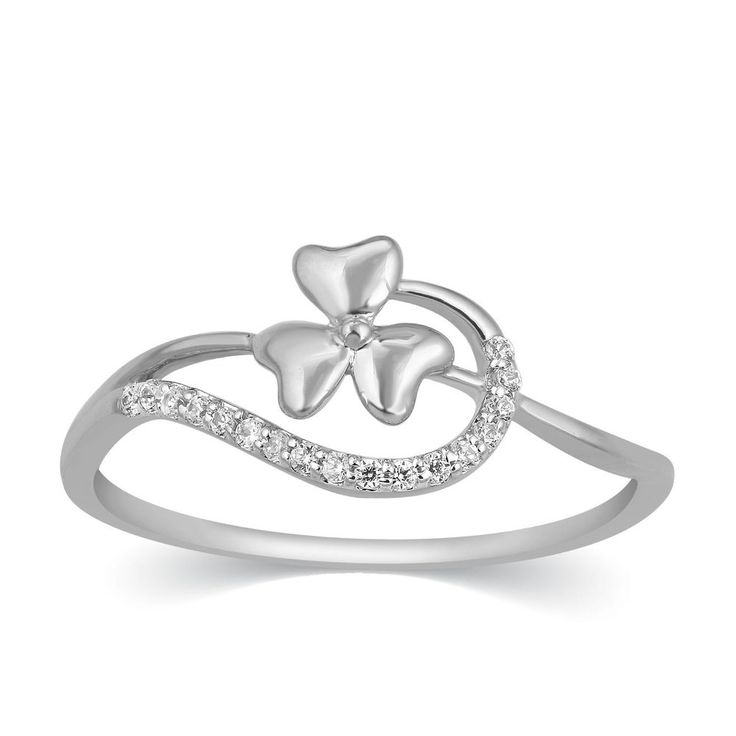 Fine Solid 950 Platinum Round Cut Real Natural Diamond Floral Promise Band Ring #CaratsForYou #Promise #Christmas