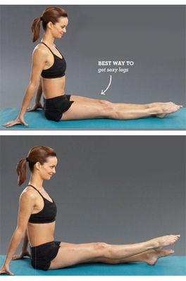 Quad raisers, stretching, workout, essentrics