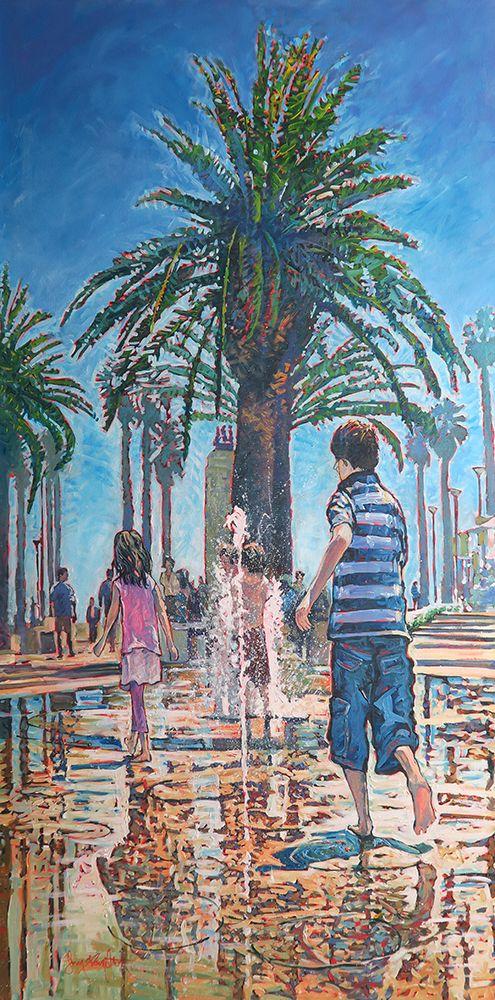 John Hamilton - Summer Splashes 61x122cm Acrylic