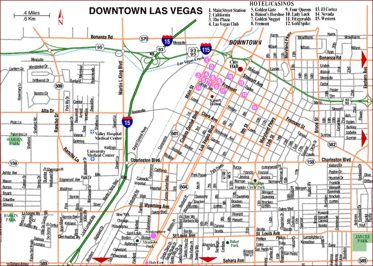 Interactive las map strip vegas
