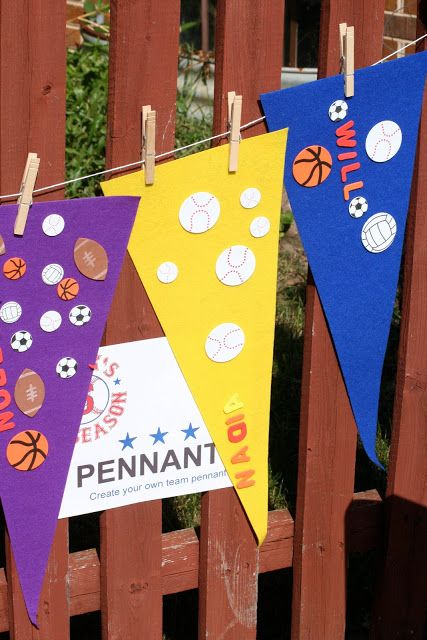 Great idea for Football party favors or crafts ... DIY pennants. Thanks, Natalie : )