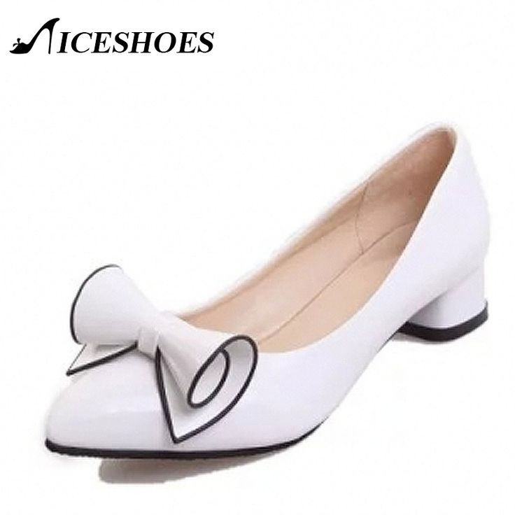 2016 Spring Womens Low heel leather Pointed toe Shoes woman high Red Bow Slip on dress Shoes zapatos mujer Ladies boat shoes-in Women's Pumps from Shoes on Aliexpress.com | Alibaba Group