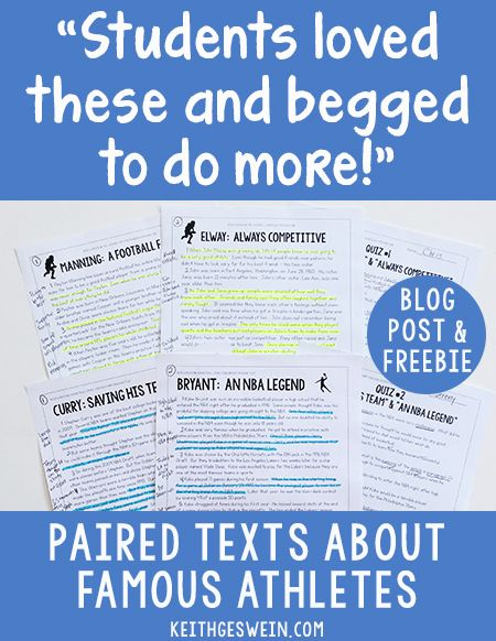 Check out my blog if you're looking for nonfiction passages that will engage your reluctant readers.