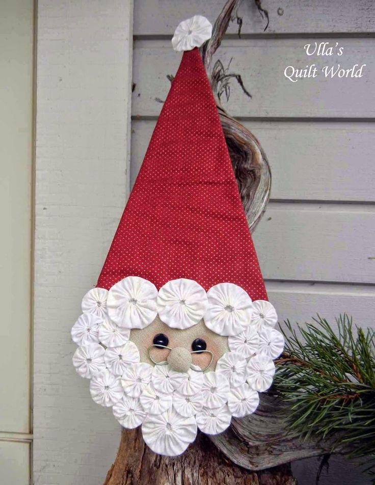 De Ulla Quilt Mundo: YoYo Santa Claus colcha
