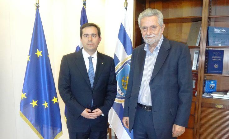 Συνάντηση Ν. Μηταράκη με τον Αναπληρωτή Υπουργό Οικονομίας, αρμόδιο για θέματα Ναυτιλίας & Αιγαίου, κ. Θ. Δρίτσα - http://goo.gl/iwcqa1