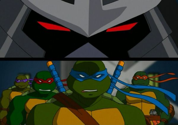 "From season 1 episode 11 ""The Shredder Strikes Back Part Two"". 