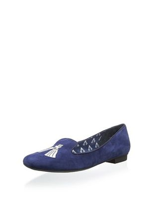 74% OFF Isaac Mizrahi New York Women's Kimil Smoking Slipper (Medium blue)