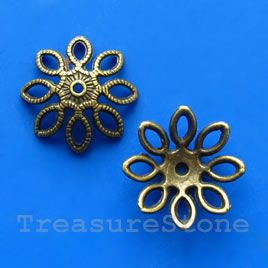 Bead cap, antiqued brass finished, 20mm.#TreasureStone Beads Edmonton.