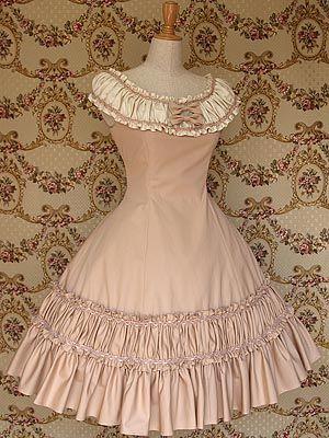Round Neckline Cotton Classic Lolita Dress