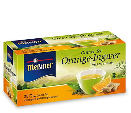 Grüner Tee Orange-Ingwer