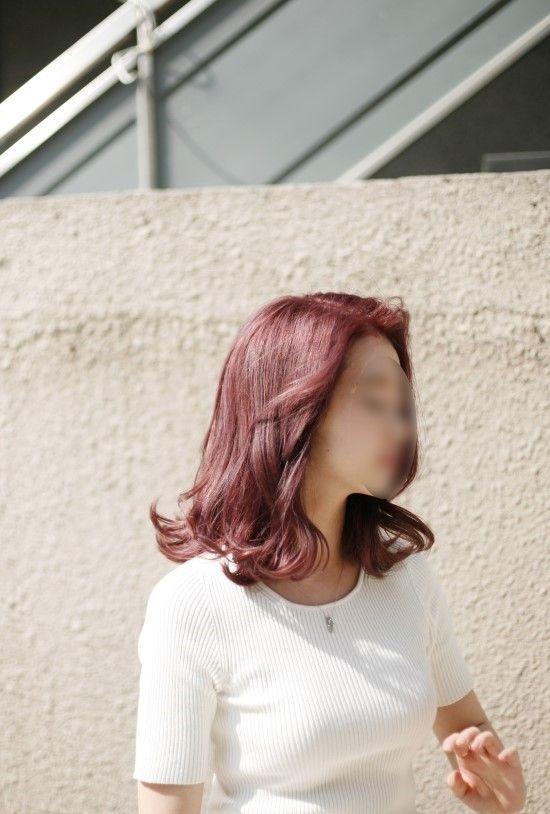 소녀소녀한 핑크브라운 염색 & 가로수길 미용실 고고싱 : 네이버 카페