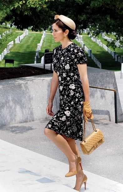 H.R.H. CROWN PRINCESS MARY of DENMARK at Arlington National Cemetery, Arlington, Virginia, USA