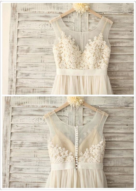 Illusion Open Back Lace Wedding Dress,Vintage Lace Wedding Dress,Discount Lace Wedding Dresses,Vintage Tulle and Lace Bridal Dresses