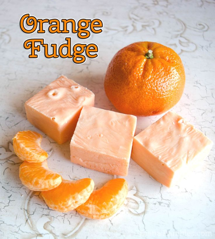 Easy Orange Microwave Fudge Recipe from Diana Rambles
