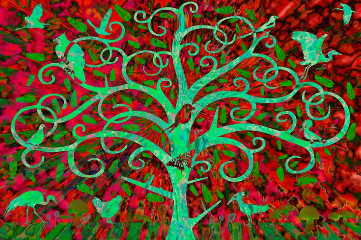 Julian Venter.  Tree of Life - Summer. LIMITED Edition Giclee Prints on paper. Edition of 34 - 32 left.