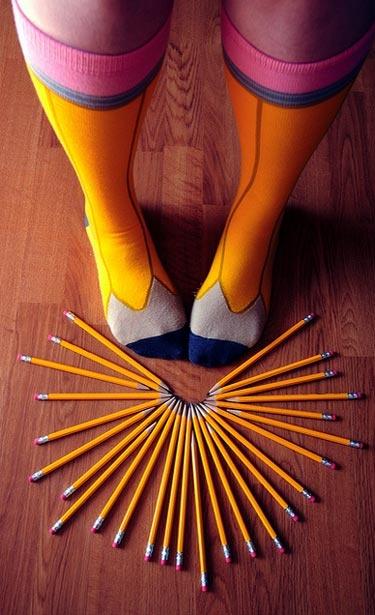 Pencil Socks #Geek #Fashion #Tights