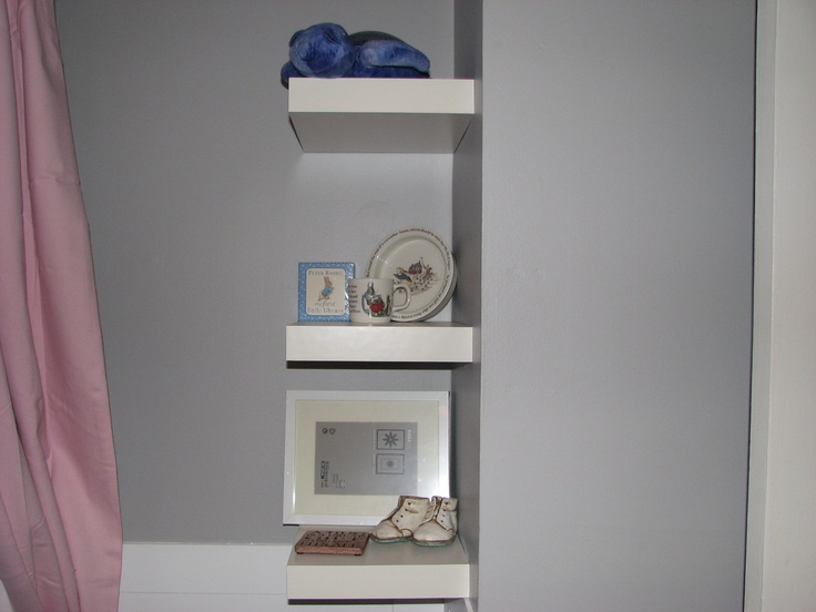 Shelves and frame from Ikea  Tranquil turtle - Toys r Us  Peter Rabbit and shoes - gifts