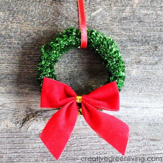 How To Make Mini Christmas Wreath Ornaments Diy Christmas Ornaments Christmas Ornaments To Make Mini Wreaths Christmas