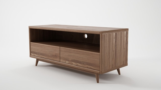 Danish Modern TV Unit with 2 Drawers SoundslikeHOME