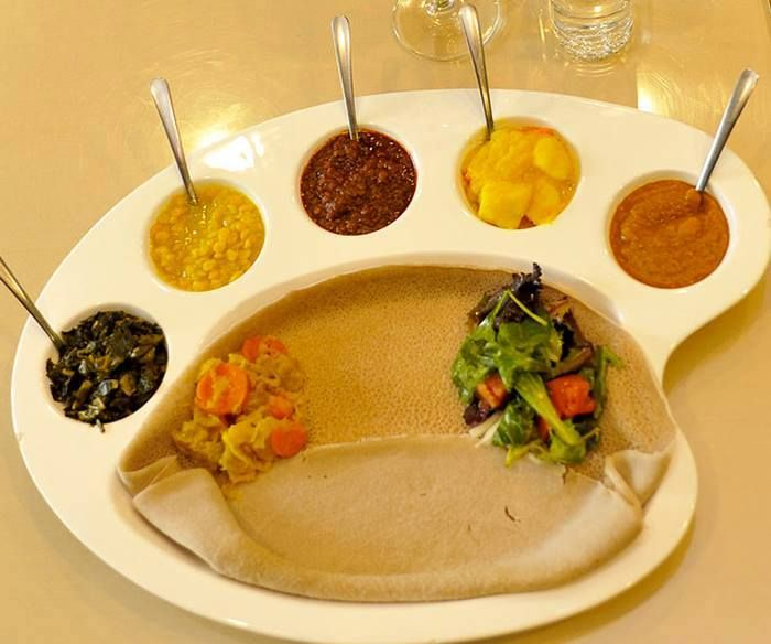 Ethiopian Vegetarian Meal Love The Tray