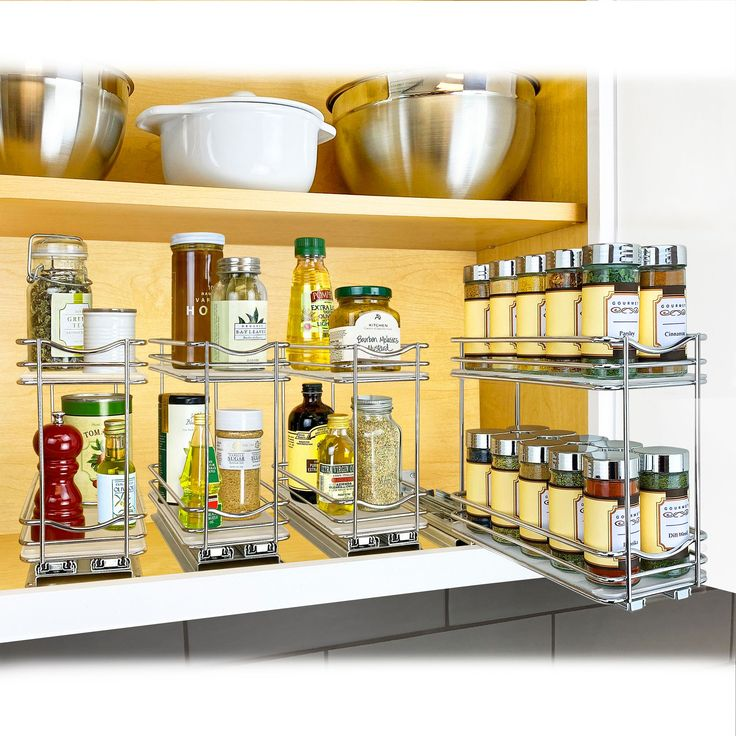 Lynk Professional® Slide Out Double Spice Rack Upper ...