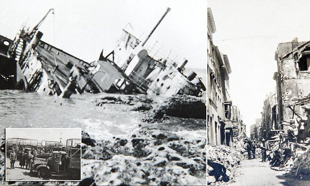 Haunting photographs show the devastation after Dunkirk evacuation #DailyMail