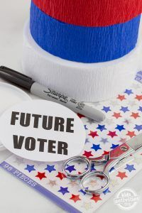 "Future Voter Button Craft  "" Perfect for little politicians!"