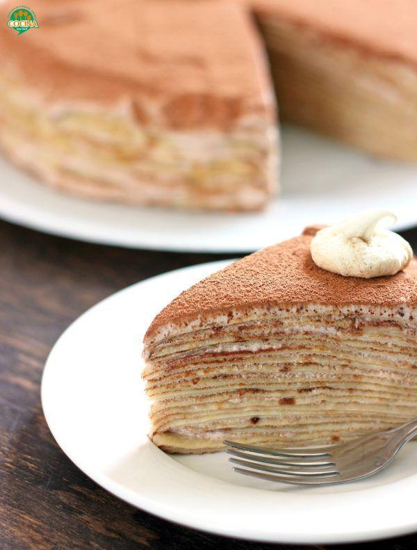 Pastel De Crepes De Chocolate Receta Cocina Muy Facil Recipe Rich Desserts Desserts Food