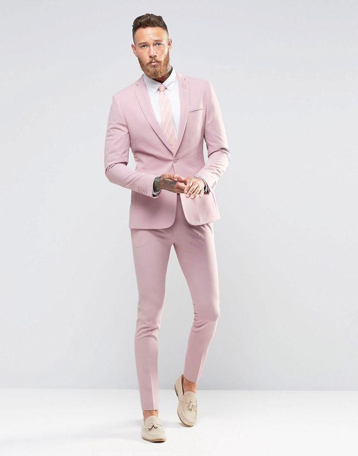 Image 1 ofASOS Super Skinny Fit Suit In Pink