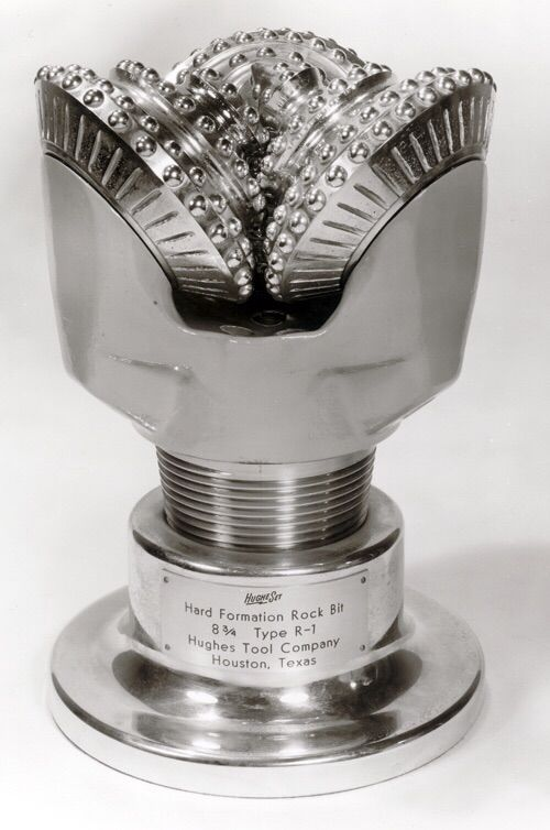 This is the drill bit used for oil drilling that made Howard Hughes rich.