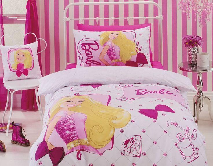 Barbie Quilt Cover Set from Kids Bedding Dreams #girls #bedroom