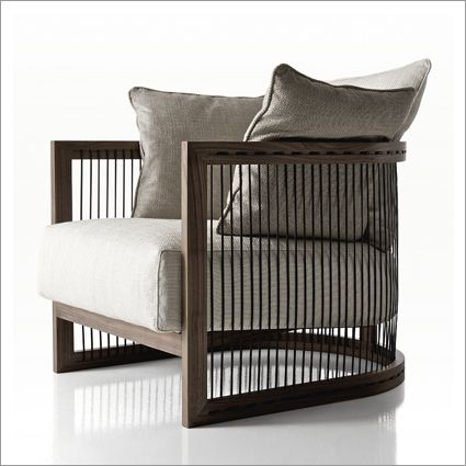 verdesign tiffany armchair, fabric or leather & walnut