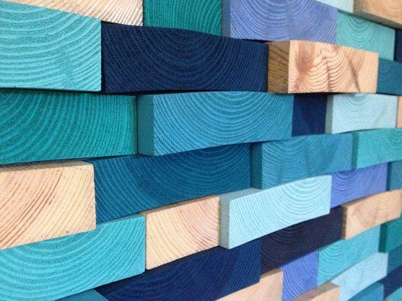 Holz-Wand-Kunst abstrakte Acryl-Malerei auf Holz von WallWooden
