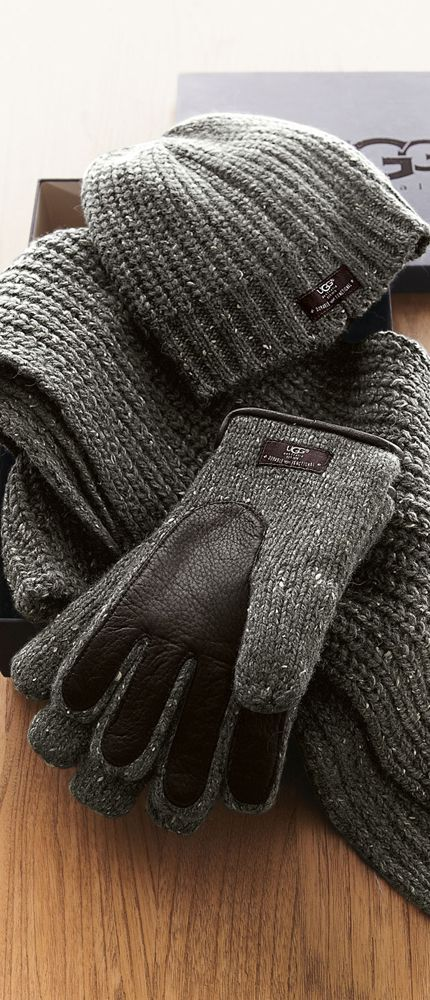 UGG Australia Hat, Scarf & Gloves #gifts - maybe Jon would like these for when we go home in the dead of winter...maybe...