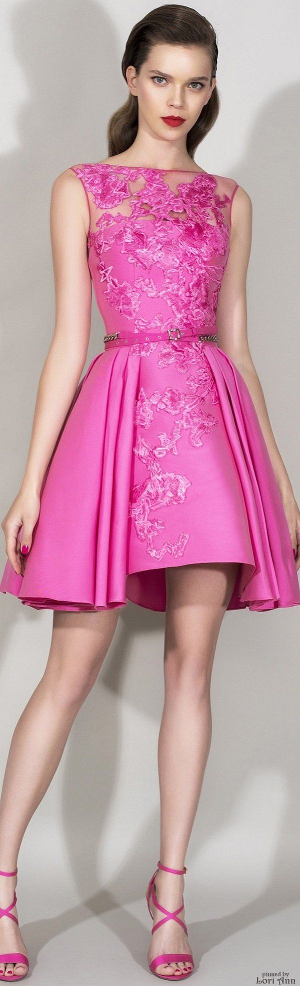 "OH SO PRETTY IN HOT PINK dress - Zuhair Murad Resort 2016...reminiscent of ""Pretty in Pink"""