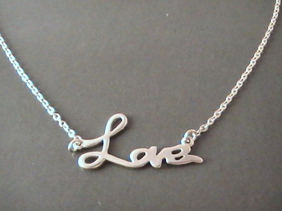 Love Necklace Silver Necklace, Cute Gift Ideas, Romantic Gifts for Women Gifts for Girlfriend Gifts for Wife Gifts for Teens Gifts for Her