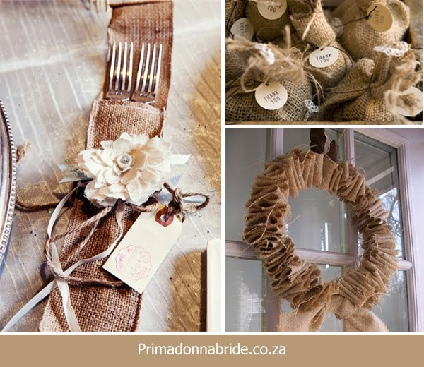You Have To Love Hessian Also Known As Burlap A Fresh Modern Twist On Wedding Decor With Its Rustic Shabby Look Can Be Spiced Up Lace