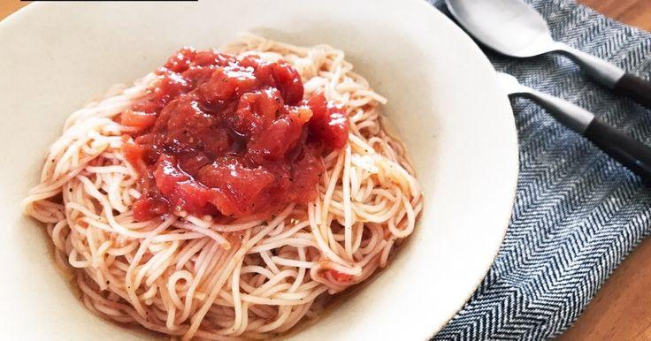 トマト缶で♡簡単シンプルなトマトそうめん by kaza_m107 [クックパッド] 簡単おいしいみんなのレシピが274万品