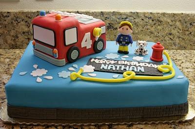 fireman cake